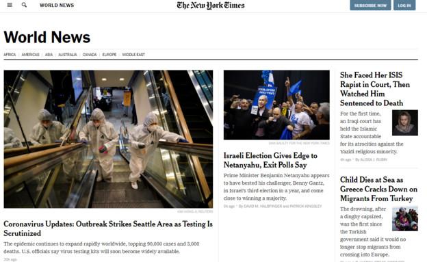 בעולם הגיבו לבחירות בישראל (צילום: nytimes.com)
