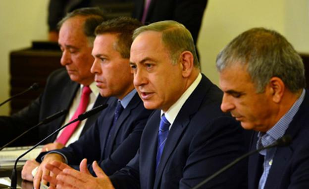 """ישיבת הממשלה המיוחדת בחיפה (צילום: קובי גדעון לע""""מ)"""