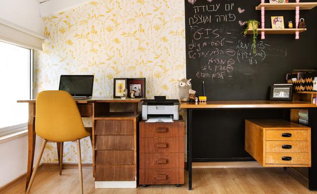 משרד ביתי 5, עיצוב דירתי-לי (צילום: יונתן תמיר)