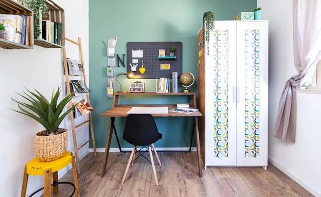 משרד ביתי 9, עיצוב לימור נג'מה (צילום: הדר דולן)