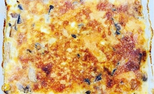 פשטידת פטריות ובצל בלי קמח (צילום: לידור רז כהן, דיאטת 17 הימים)