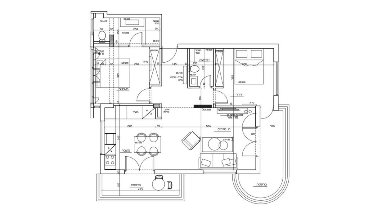 ירה בתל אביב, עיצוב סטודיו 2hila, תוכנית אדריכלית אחרי