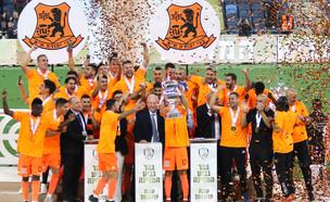 בני יהודה זוכה בגביע המדינה בכדורגל, 2019 (צילום: רועי אלימה, פלאש 90)