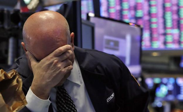 צניחה בבורסה (צילום: AP)