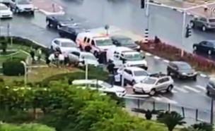 אירוע ירי בנתניה (צילום: באדיבות קבוצת פעילות מבצעית)