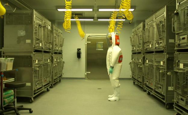 המעבדה בגליל שמפתחים בה חיסון נגד הקורונה (צילום: החדשות 12, החדשות12)