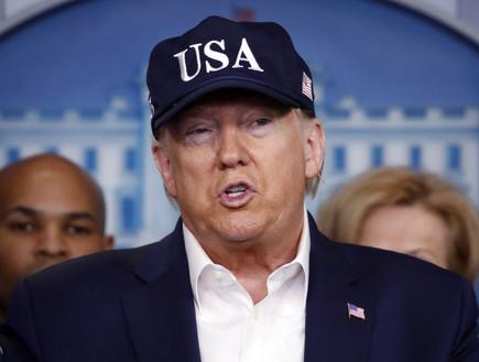 טראמפ פונה לציבור (צילום: AP)