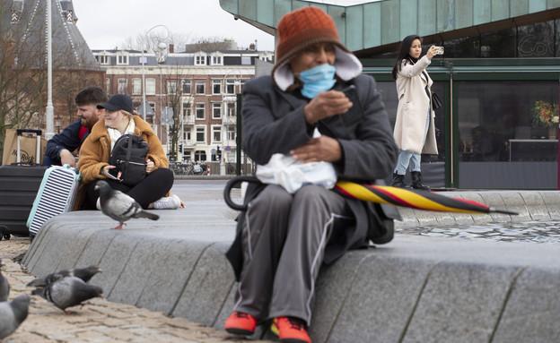 קורונה באמסטרדם (צילום: ap)