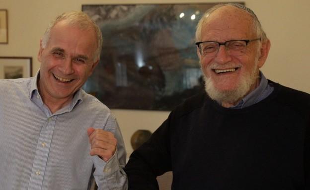 פרופסור פורסטנברג עם נשיא האוניברסיטה העברית, פרופסור אשר כהן