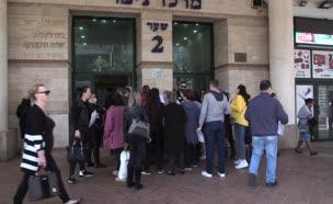 המוני הישראלים שפקדו את לשכות התעסוקה. צפו (צילום: חדשות)
