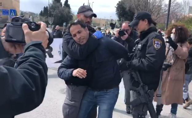 מעצר המפגינים מול הכנסת