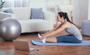 להתאמן בבית (צילום: Pindyurin Vasily, shutterstock)