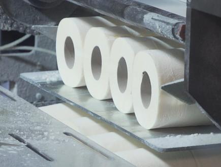 ביקור במפעל נייר טואלט (צילום: N12)