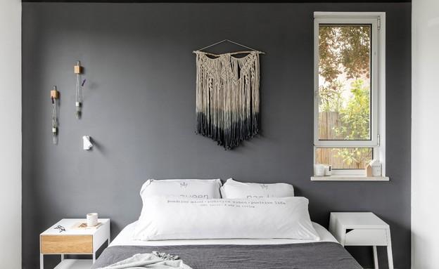 חדר שינה אפור