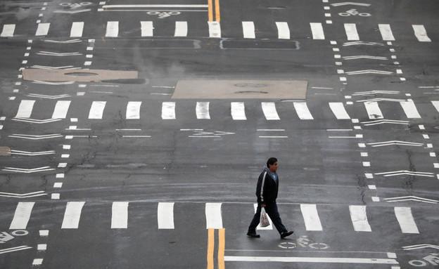 ניו יורק נטושה במשבר הקורונה (צילום: reuters)