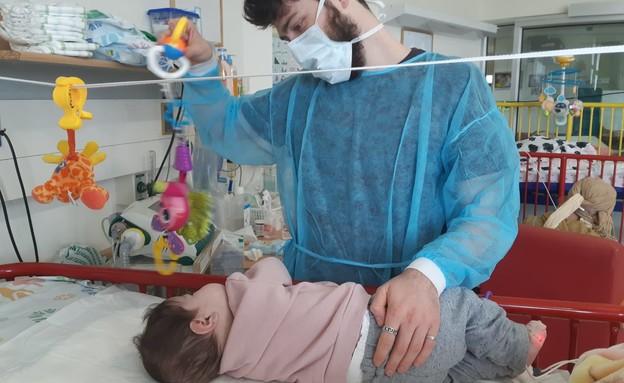 בני שירות לאומי בבית החולים אלין (צילום: אלי