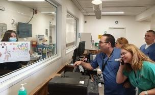 גלית ויצמן מטופלת  (צילום: דוברות המרכז הרפואי הלל יפה)