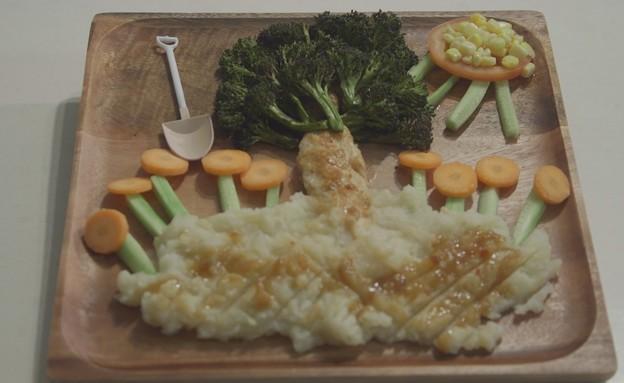 ארוחת ציור - עץ בגינה (צילום: אמהות מבשלות ביחד, ערוץ 24 החדש)