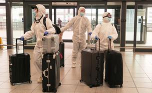 נוסעים בשדה התעופה גטוויק בלונדון (מרץ 2020)  (צילום:  Mike Hewitt, getty images)