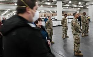 """מבצע הקורונה של צבא ארה""""ב  (צילום: Spencer Platt/Getty Images)"""