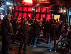 המשטרה פיזרה התקהלות של שליחים  (צילום: ערב טוב עם גיא פינס, קשת 12)