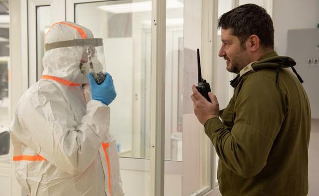 המעבדה לזיהוי נגיף הקורונה של צה