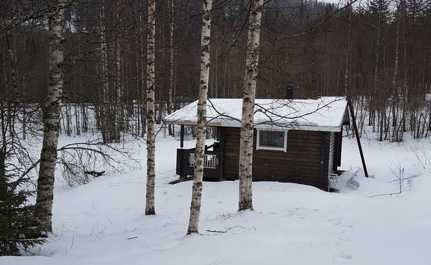 הבקתה של אמיר זהבי בפינלנד (צילום: אמיר זהבי   צילום פרטי)