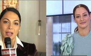 """מעיין אדם ומורן אטיאס מתעמתות בשידור (צילום: מתוך """"חדשות הבוקר"""" , קשת 12)"""