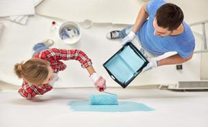צביעת קירות (צילום: Syda Productions, Shutterstock)