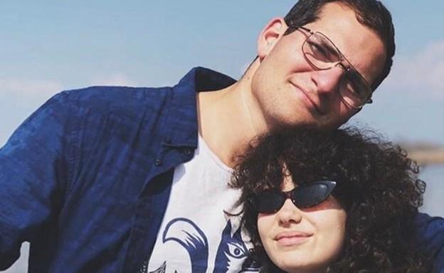 רועי אזולאי ובת זוגו תומי (צילום: ללא, D-MARS, המרכז הישראלי למשימות אנלוגיות במאדים)