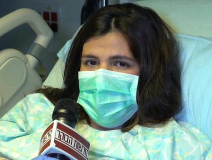 """צפויה ללדת היום - וחוששת בגלל הקורונה (צילום: מתוך """"חדשות הבוקר"""" , קשת 12)"""