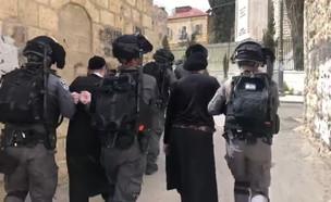 מעצרים במאה שערים (צילום: דיווחי הרגע)
