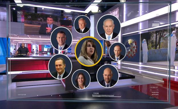 הפוליטיקאים שהיו בסביבת יועצת ראש הממשלה (צילום: החדשות12)
