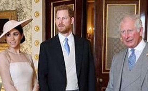 הנסיך צ'ארלס עם הארי ומייגן. אפריל 2020 (צילום: instagram)