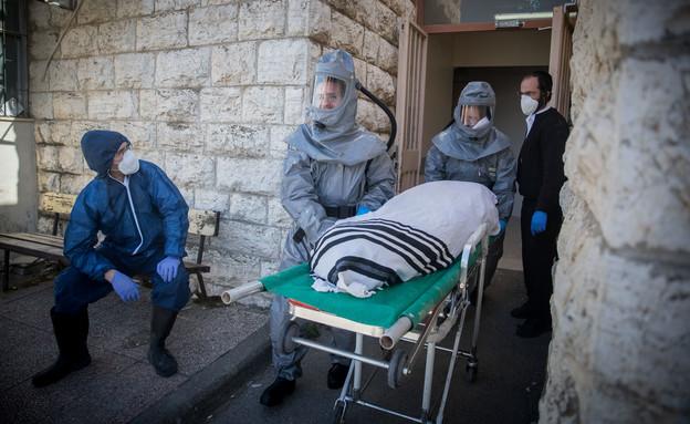 הלוויתו של חולה קורונה בירושלים