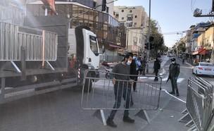 כוחות מגב פורסים מחסומים בכניסה לעיר בני ברק