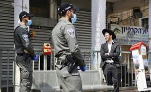 בני ברק הסגר משטרה (צילום: AP ASSOCIATED PRESS)
