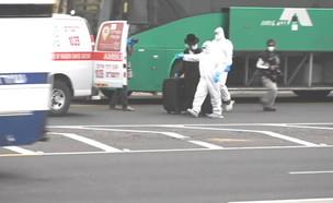 חולה קורונה מאומת אותר באוטובוס בדרך לירושלים (צילום: החדשות 12)