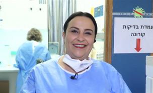 """המאסטר שפית שמתנדבת בבית החולים (צילום: מתוך """"חי בלילה"""", קשת 12)"""