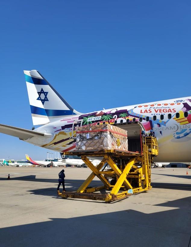 מטוס אל על בשדה התעופה בסיאול (צילום: משרד הביטחון)