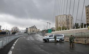סגר בירושלים (צילום: אוליבר פיטוסי , פלאש 90)