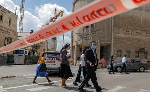 קורונה בישראל - הסגר בירושלים (צילום: AHMAD GHARABLI, AFP)