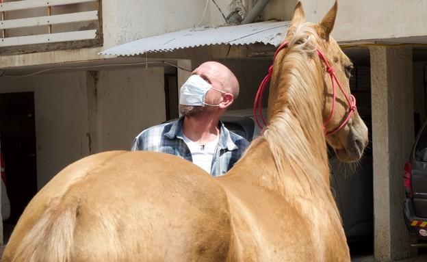 הסוס ג'ון ג'ון מפתיע ילדה בבית