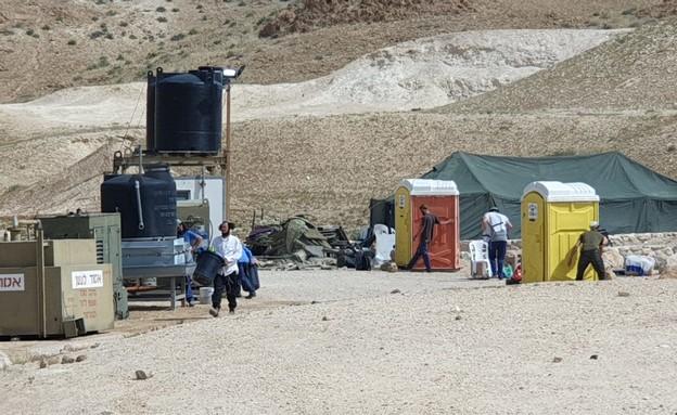 מתחם הבידוד במצוקי דרגות שהוקם לנוער הגבעות