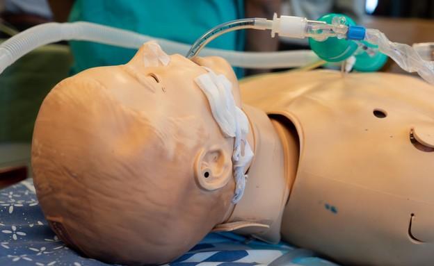"""המוניטור שעליו רשמה היחידה בשיתוף פעולה עם בית החולים שיבא (צילום: דובר צה""""ל )"""