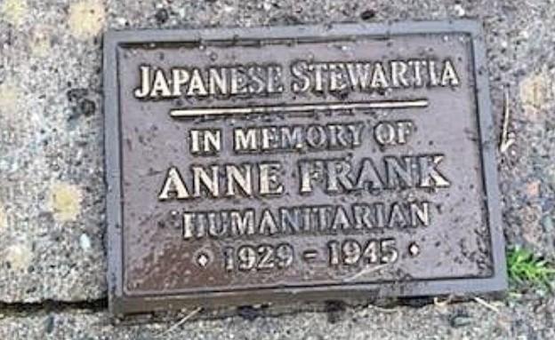 אנדרטה של אנה פרנק הושחתה בארצות הברית