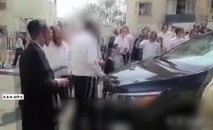 המון חרדי תקף זוג עיתונאים בבית שמש (צילום: חדשות)