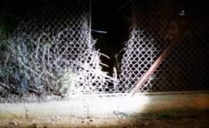 פירצה בגדר בגבול לבנון (צילום: ללא, D-MARS, המרכז הישראלי למשימות אנלוגיות במאדים)