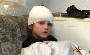 הילדה שנפגעה מרימון הלם בירושלים (צילום: החדשות 12)