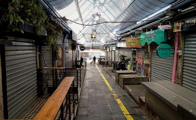 חנויות השוק סגורות (צילום: שלומי אמסלם, פלאש 90)